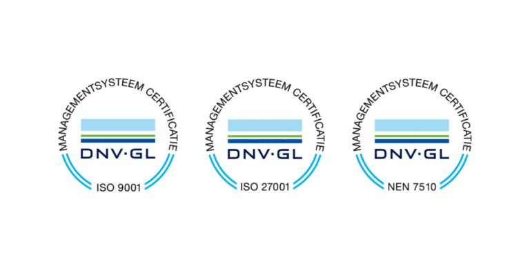 BRE-EFX is gecertificeerd voor ISO9001, ISO27001 én NEN7510